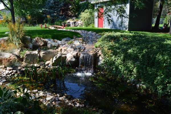 Water Feature Landscape Design in Brigham City